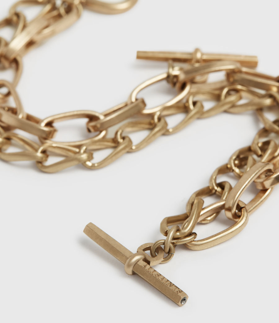 Women's Amur Gold-Tone Bracelet (warm_brass) - Image 3