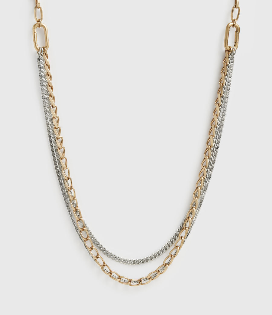 Femmes Jailing Mixed Chain Necklace (warm_brass) - Image 4
