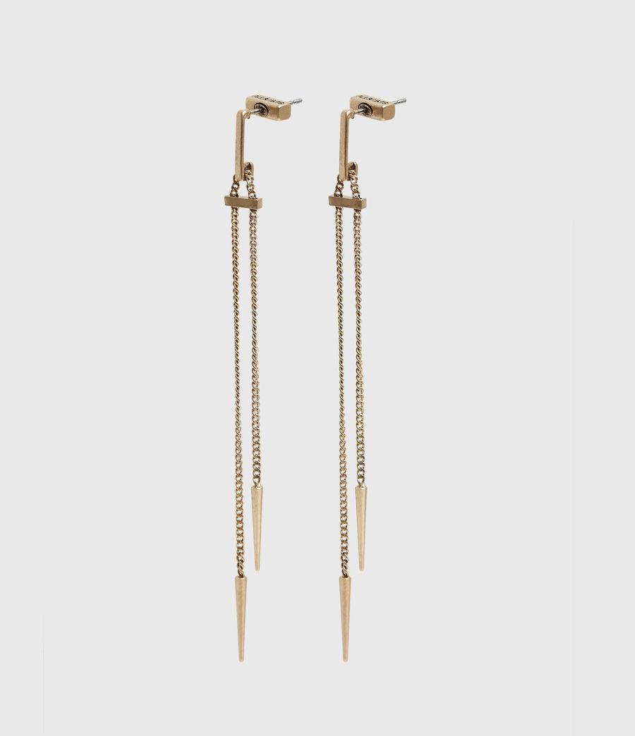 Femmes Cayuta Gold-Tone Drop Earrings (warm_brass) - Image 1