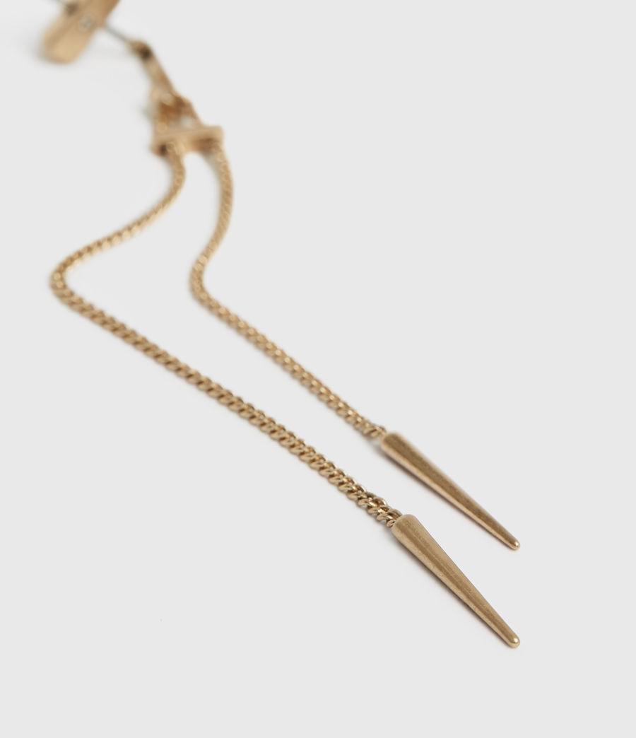 Femmes Cayuta Gold-Tone Drop Earrings (warm_brass) - Image 2
