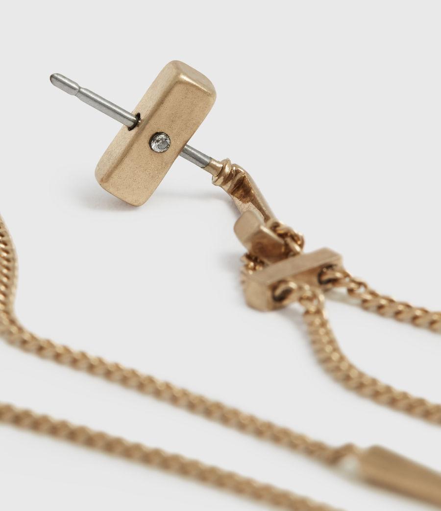 Femmes Cayuta Gold-Tone Drop Earrings (warm_brass) - Image 3
