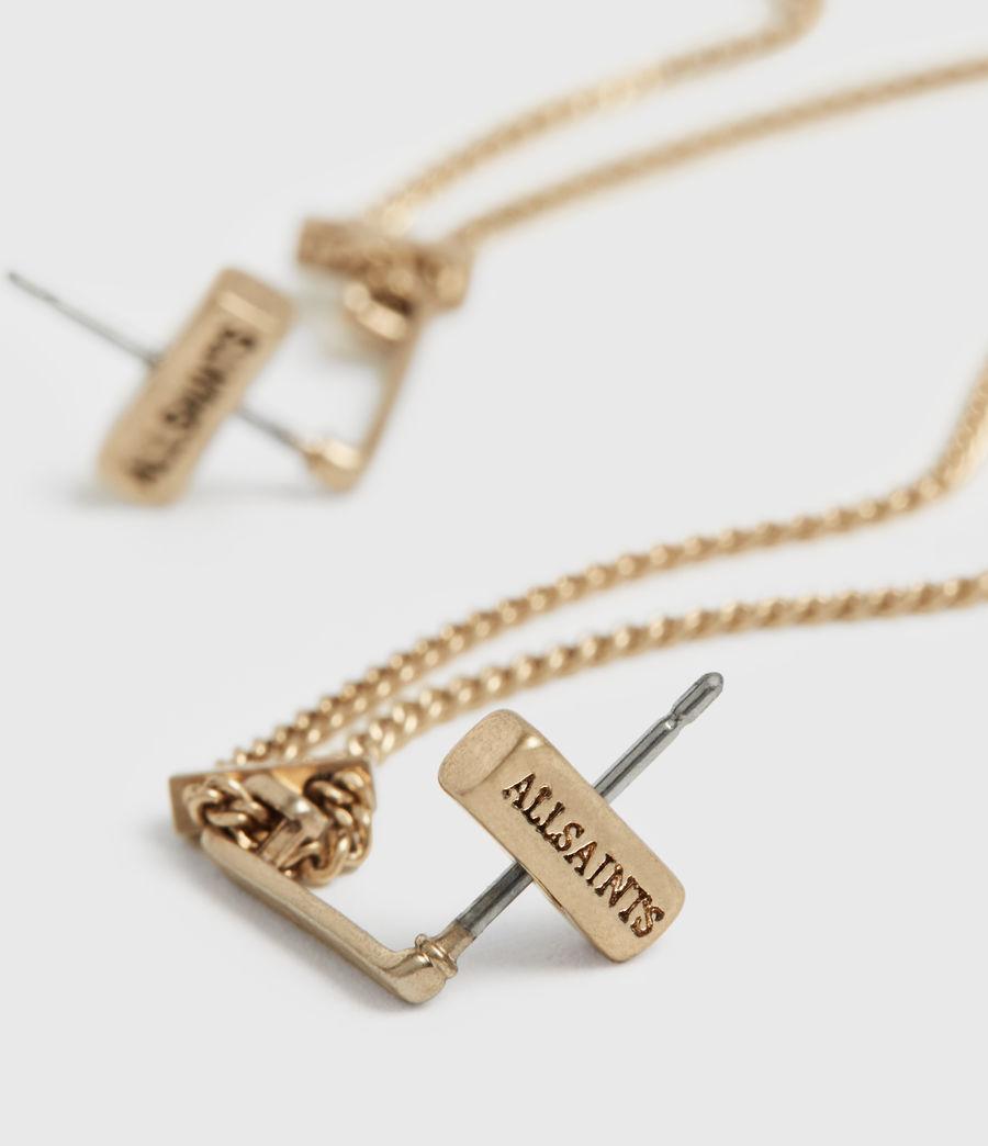Femmes Cayuta Gold-Tone Drop Earrings (warm_brass) - Image 4