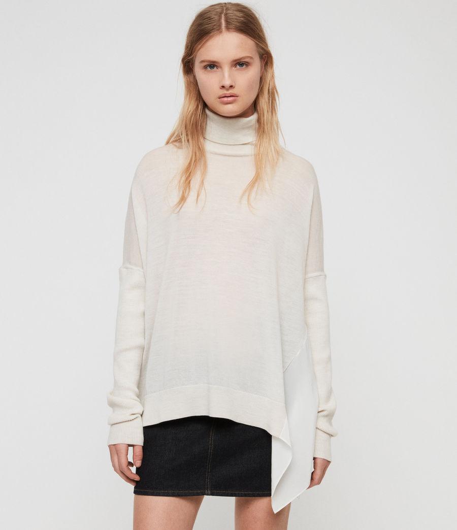 Womens Alda Roll Neck Sweater (ivory_white_marl) - Image 1