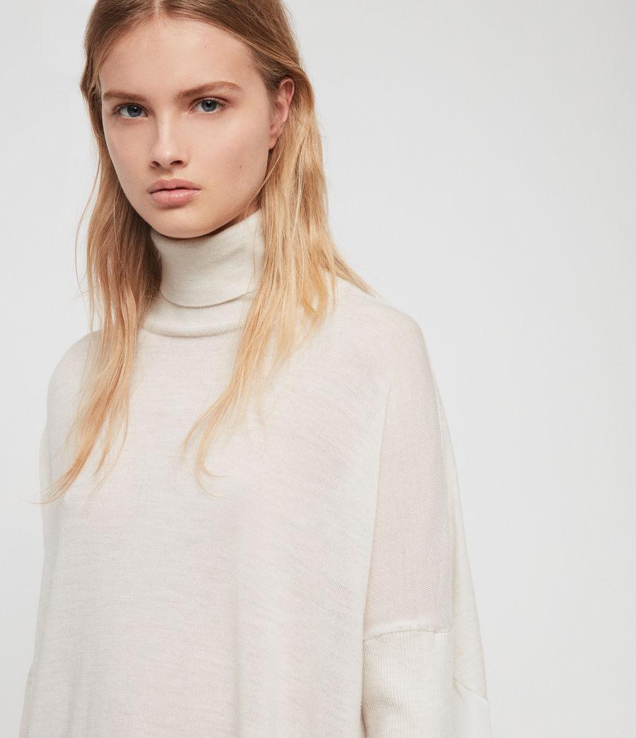 Womens Alda Roll Neck Sweater (ivory_white_marl) - Image 2
