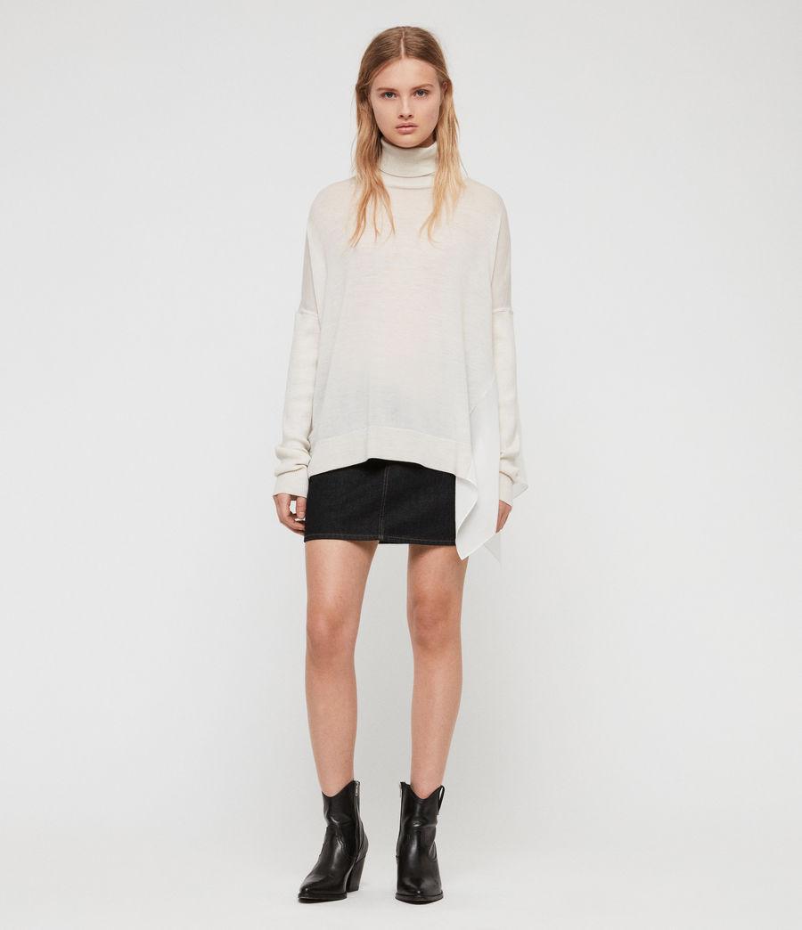 Womens Alda Roll Neck Sweater (ivory_white_marl) - Image 3