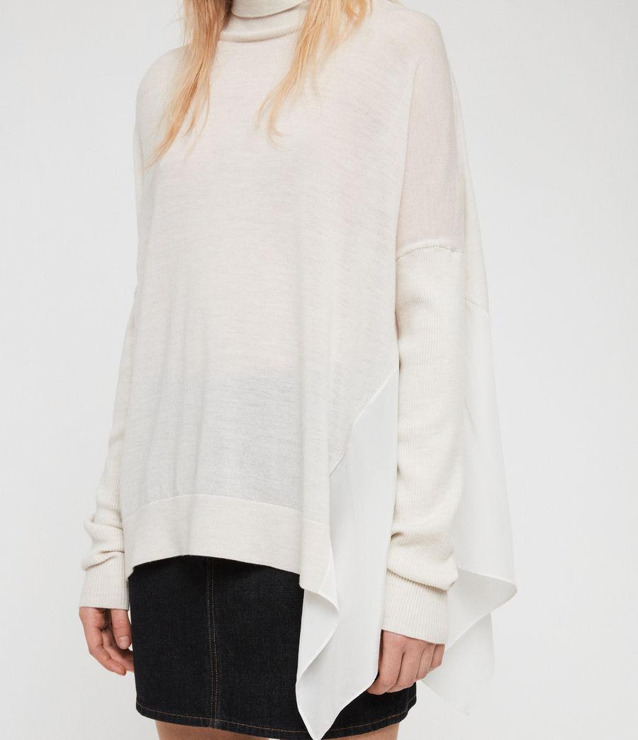 Womens Alda Roll Neck Sweater (ivory_white_marl) - Image 4