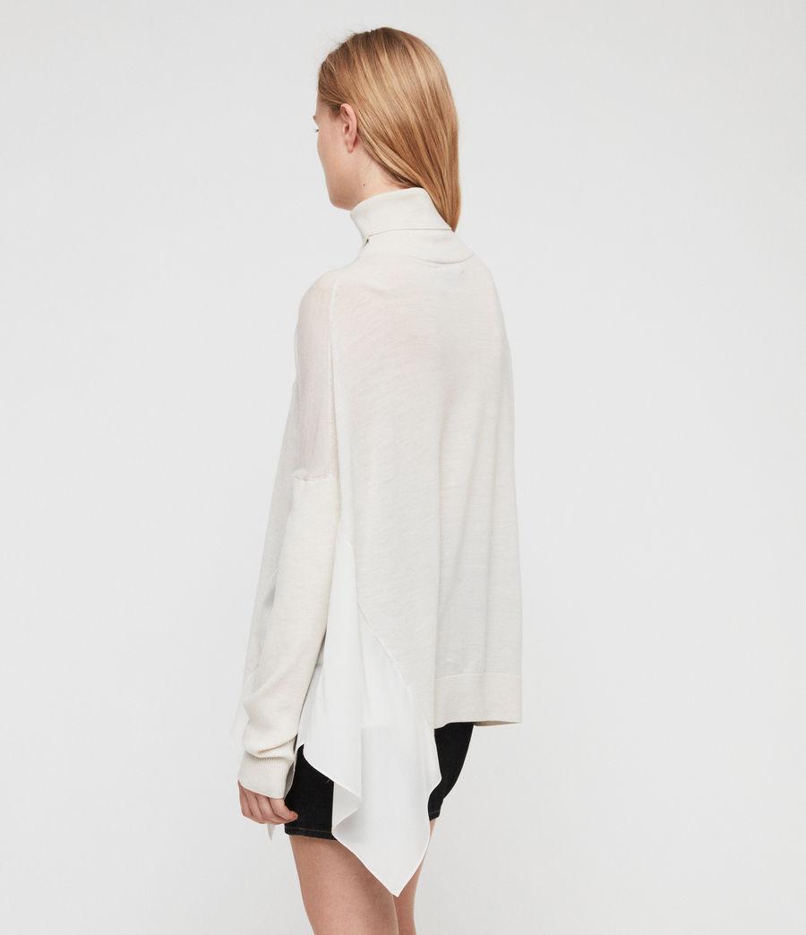 Womens Alda Roll Neck Sweater (ivory_white_marl) - Image 5