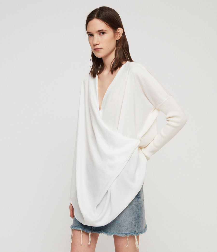 Mujer Jersey Erma Cowl (chalk_white) - Image 1