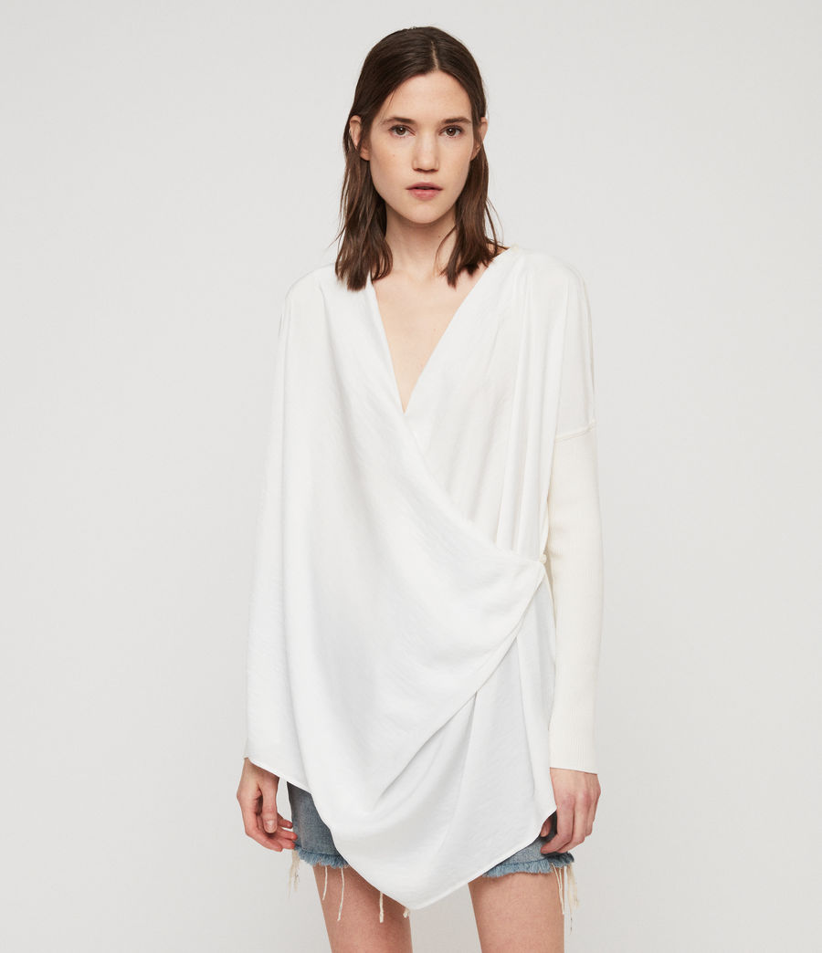 Mujer Jersey Erma Cowl (chalk_white) - Image 2