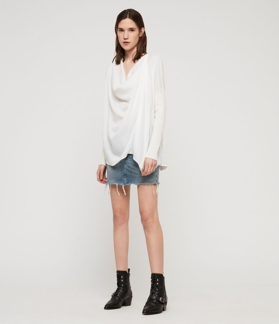 Mujer Jersey Erma Cowl (chalk_white) - Image 3