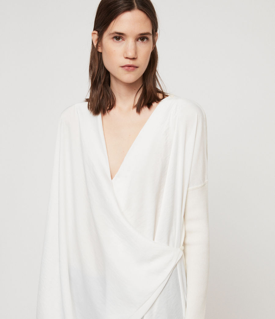 Mujer Jersey Erma Cowl (chalk_white) - Image 4