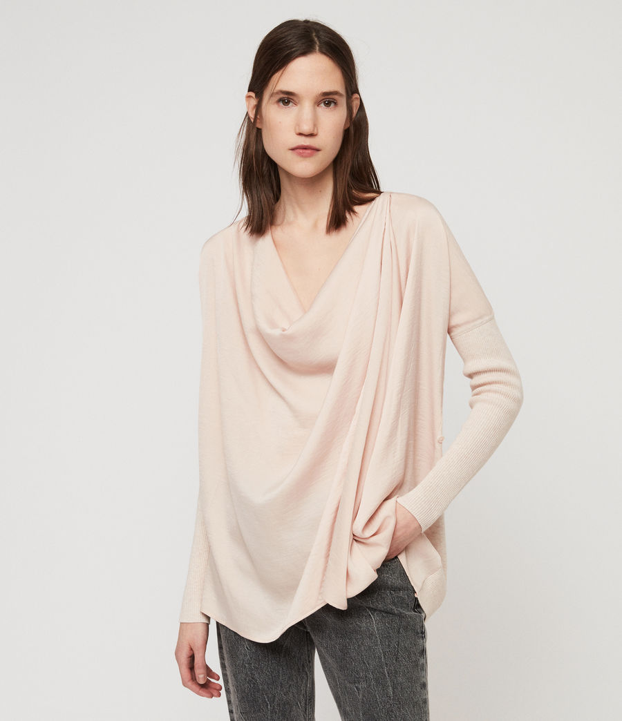 Womens Erma Cowl Neck Sweater (petal_pink) - Image 1