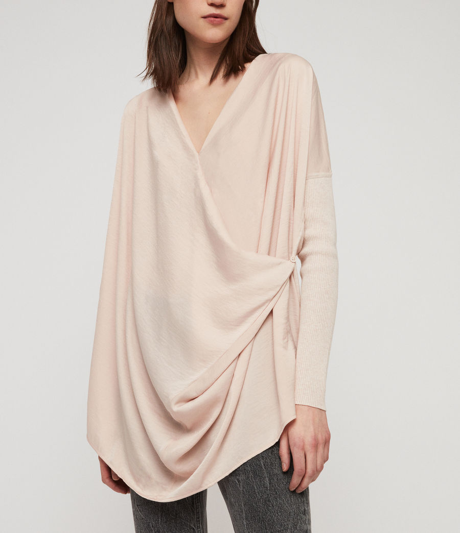 Womens Erma Cowl Neck Sweater (petal_pink) - Image 2