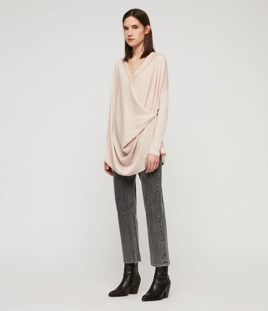 Womens Erma Cowl Neck Sweater (petal_pink) - Image 3
