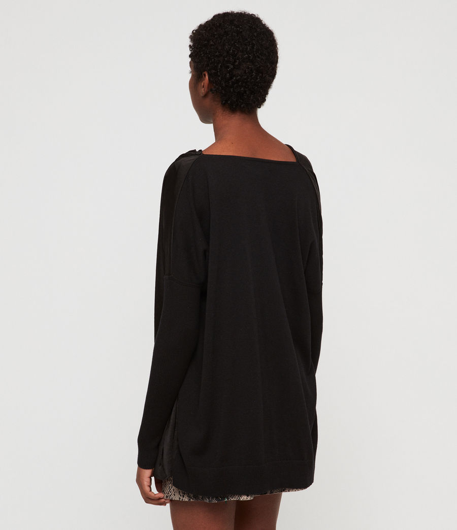 Womens Erma Cowl Neck Sweater (black) - Image 4