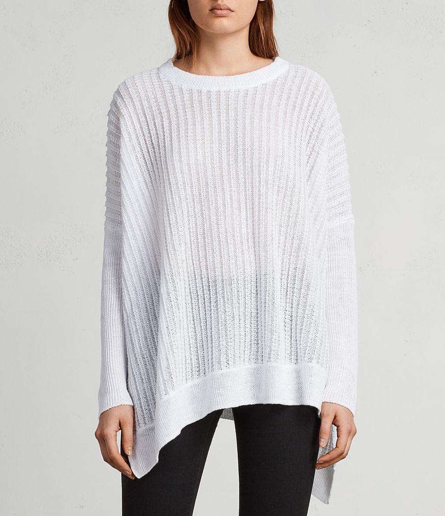 Womens Verse Crew Sweater (white) - Image 1