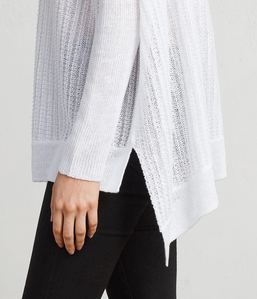 Womens Verse Crew Sweater (white) - Image 2