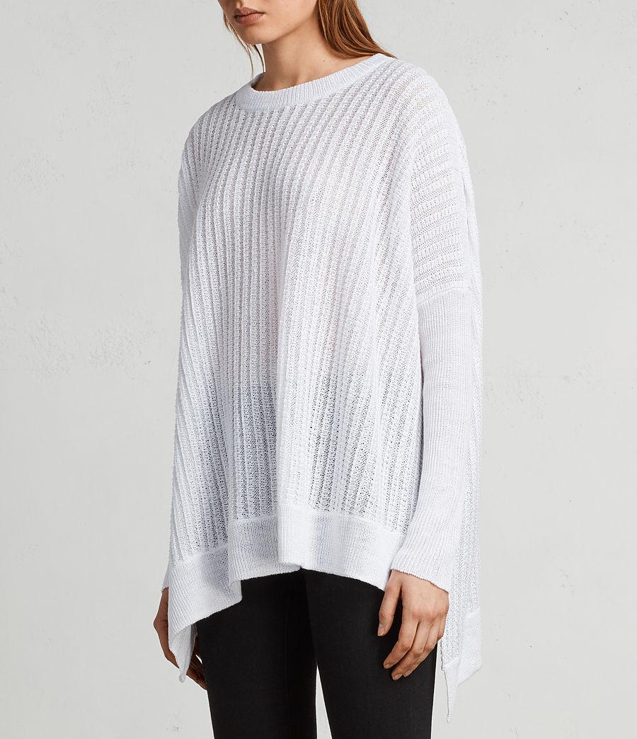 Womens Verse Crew Sweater (white) - Image 3