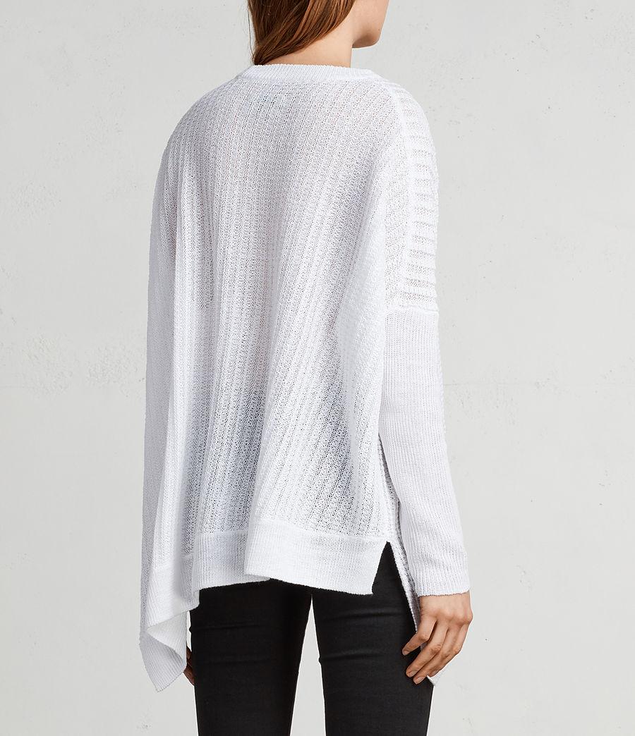 Womens Verse Crew Sweater (white) - Image 4