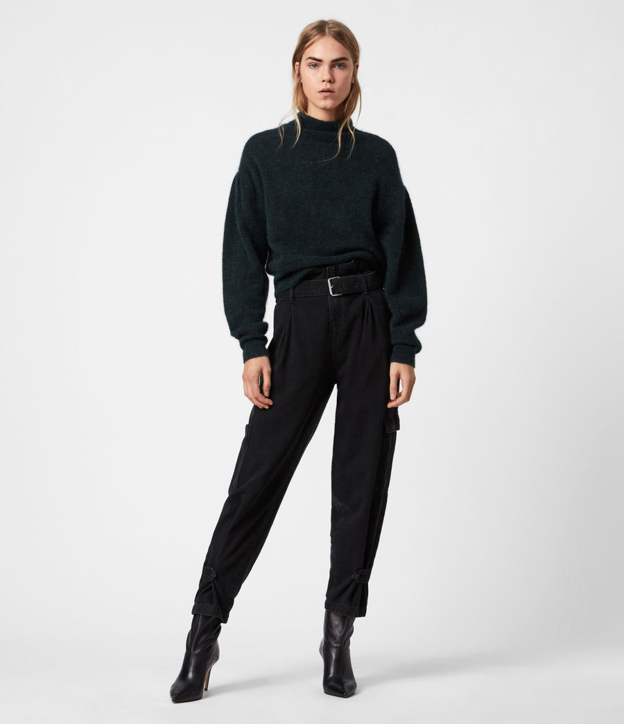 Womens Vika Sweater (forest_green) - Image 1