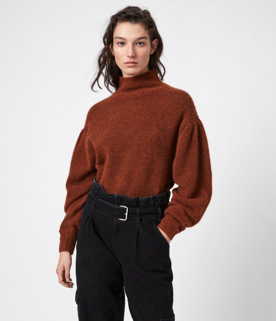 Womens Vika Sweater (conker_brown_marl) - Image 1