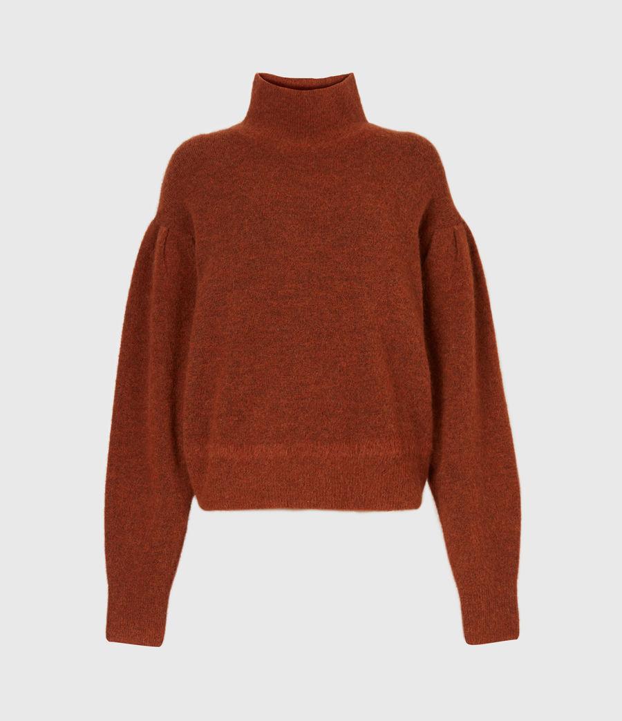 Womens Vika Sweater (conker_brown_marl) - Image 2
