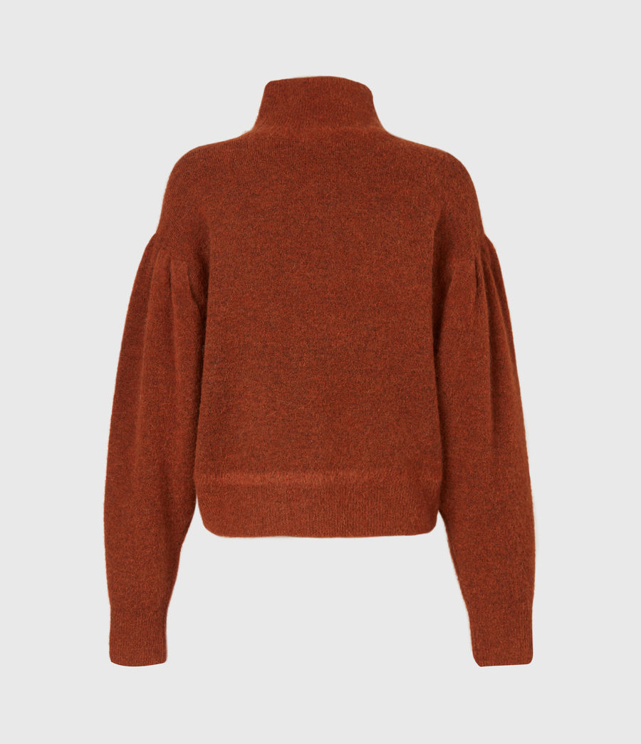 Womens Vika Sweater (conker_brown_marl) - Image 3