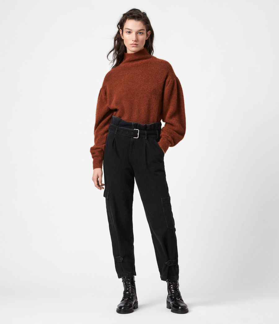 Womens Vika Sweater (conker_brown_marl) - Image 4