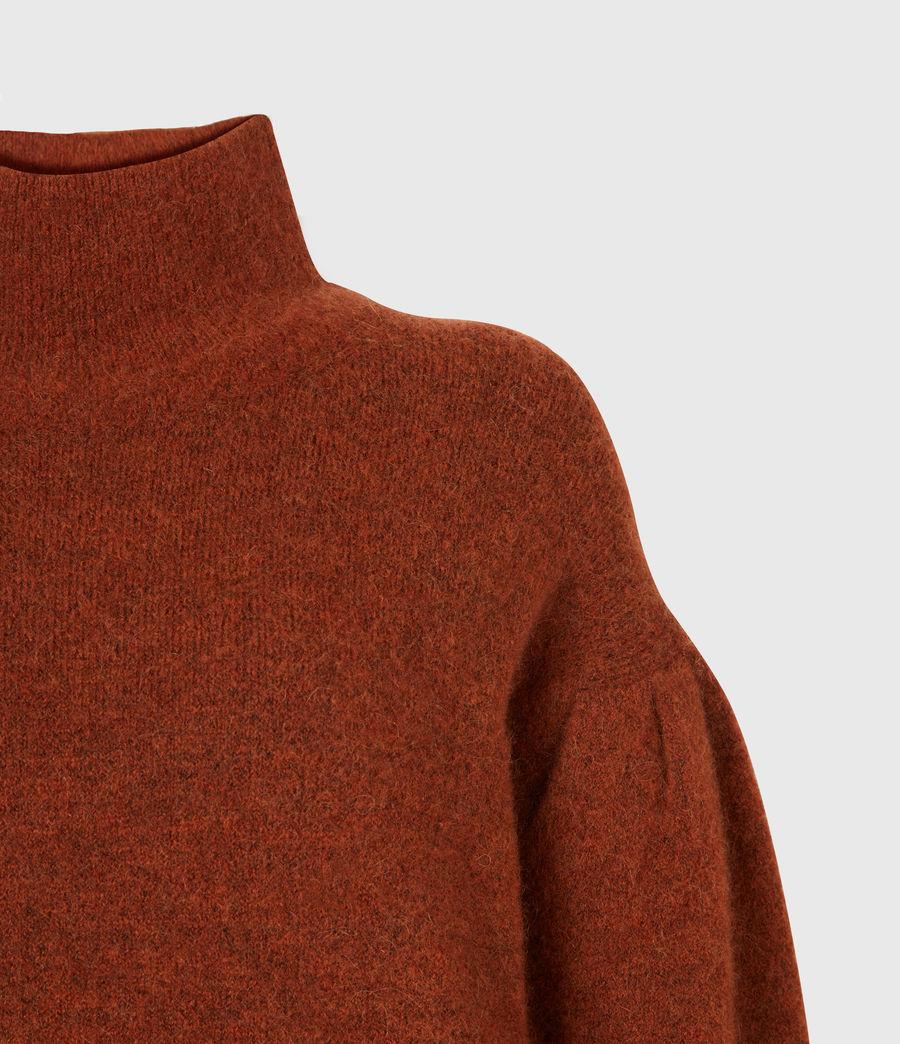 Womens Vika Sweater (conker_brown_marl) - Image 5