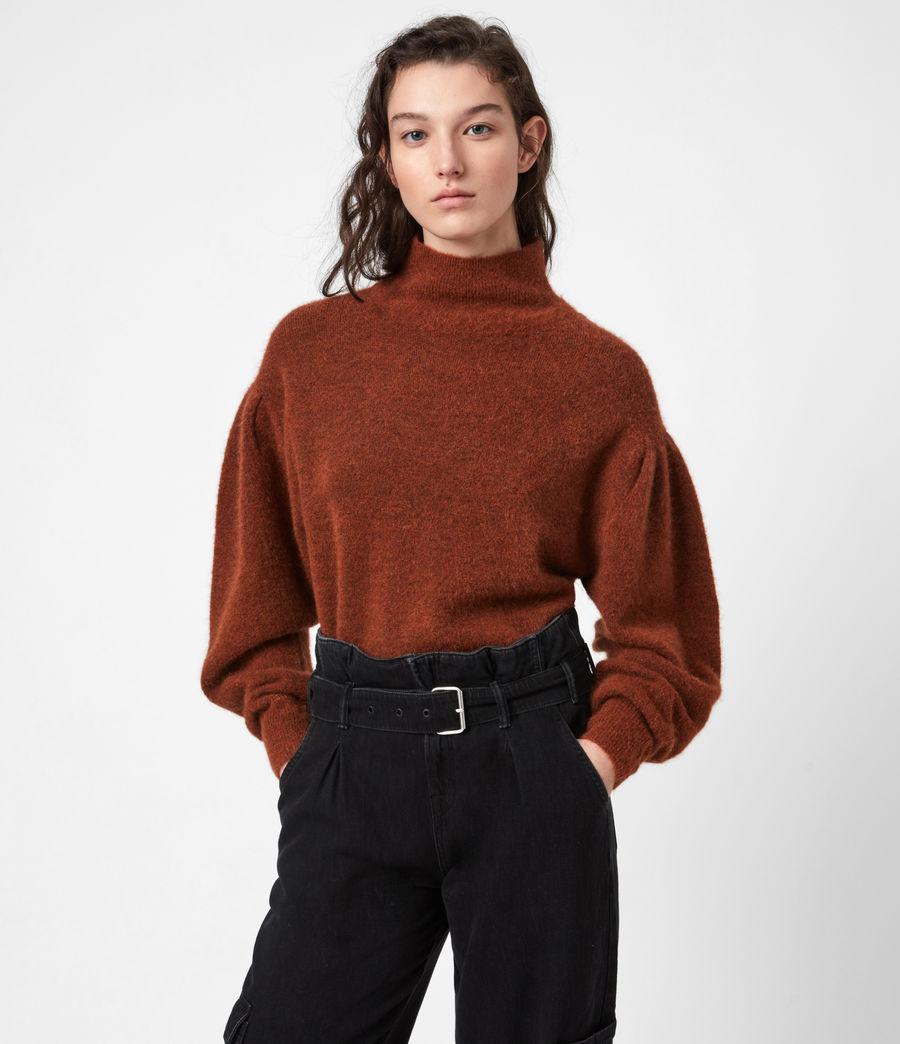 Womens Vika Sweater (conker_brown_marl) - Image 6
