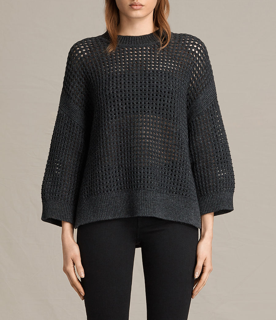 Womens Eden Crew Neck Sweater (charcoal_grey) - Image 1