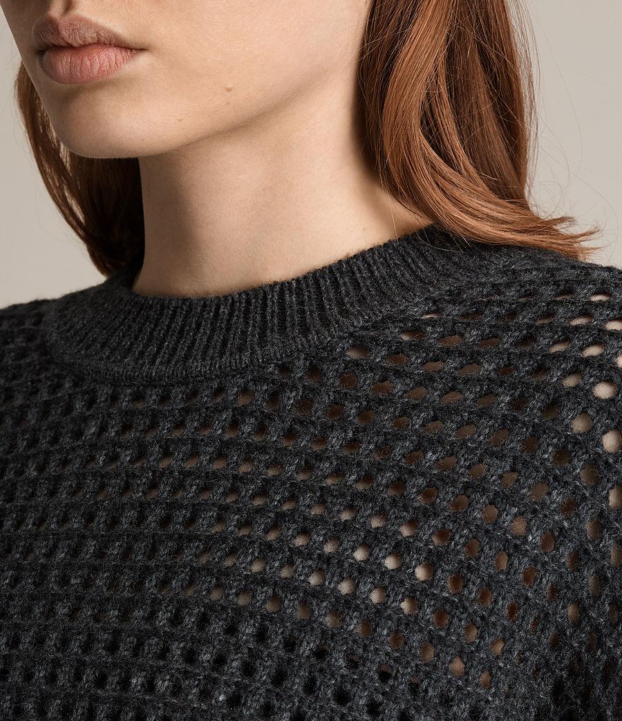 Womens Eden Crew Neck Sweater (charcoal_grey) - Image 4