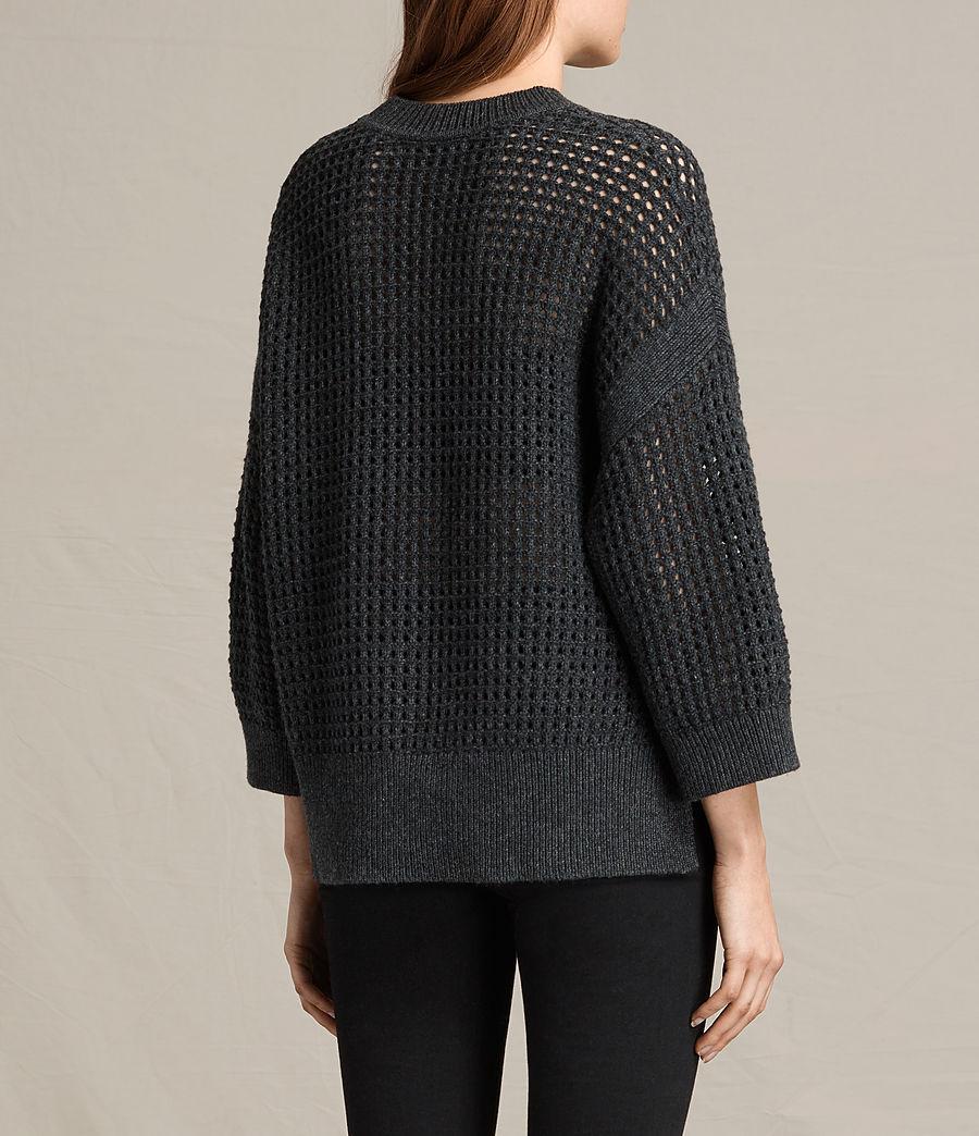 Womens Eden Crew Neck Sweater (charcoal_grey) - Image 5
