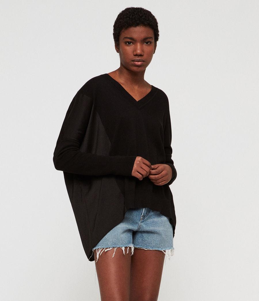 Mujer Jersey Alda Panel V (black) - Image 1