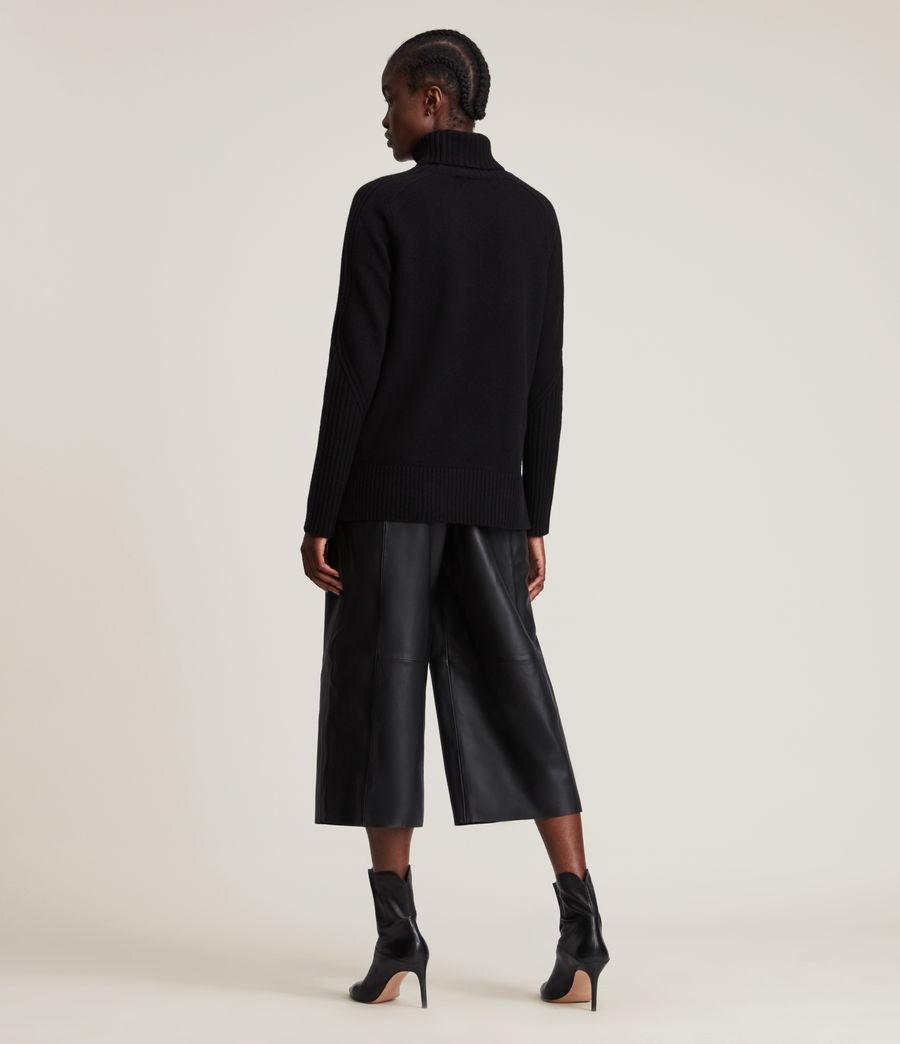 Womens Kiera Cashmere Roll Neck Sweater (black) - Image 4