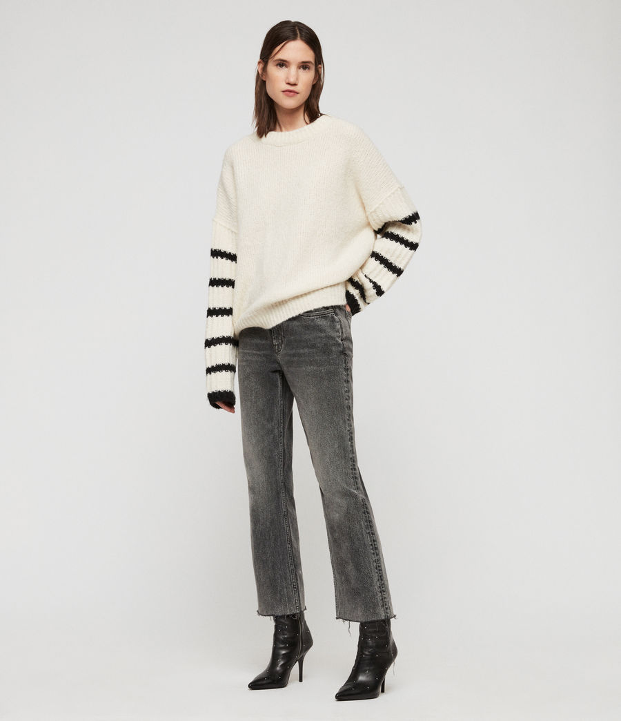 Women's Eldon Jumper (chalk_white_black) - Image 1