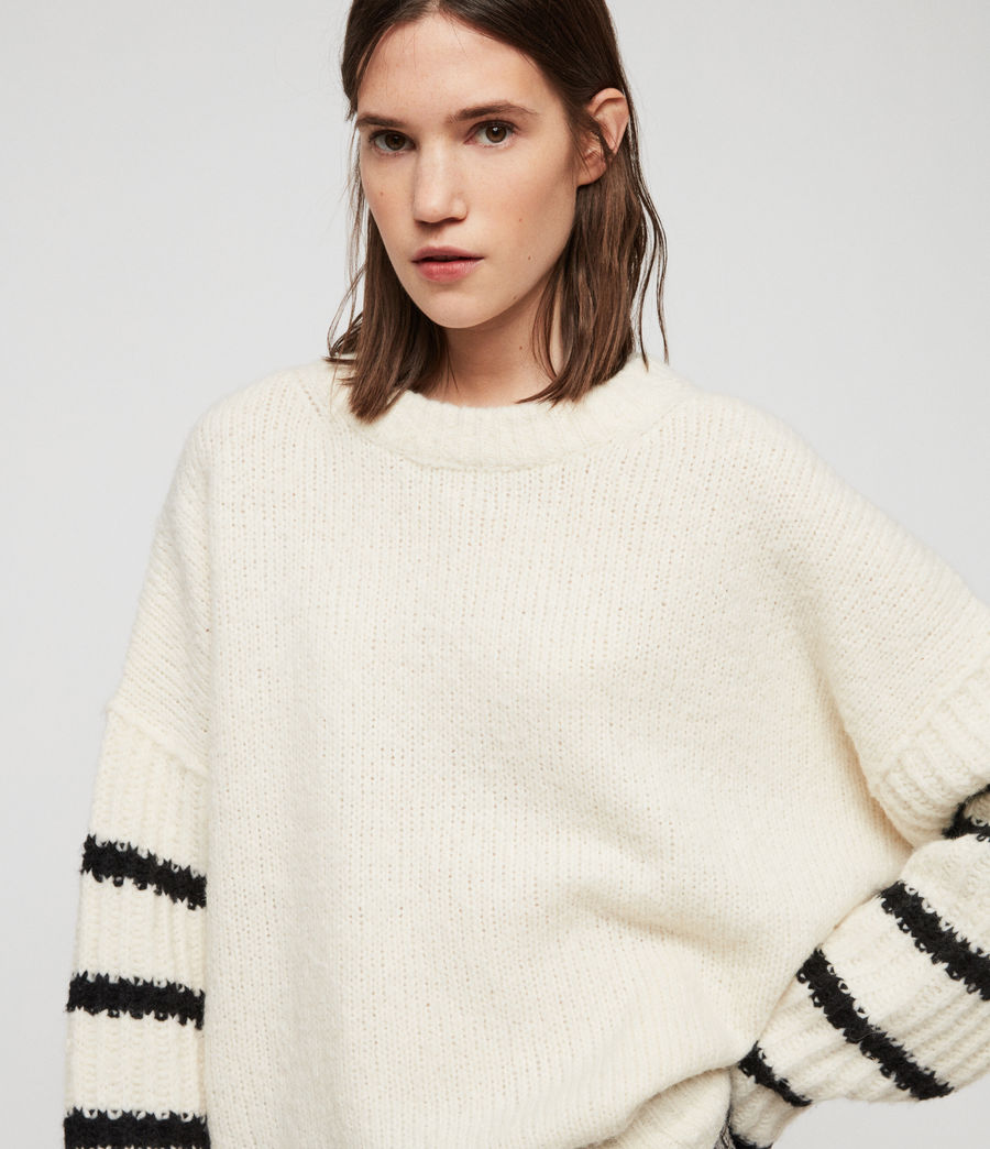 Women's Eldon Jumper (chalk_white_black) - Image 2
