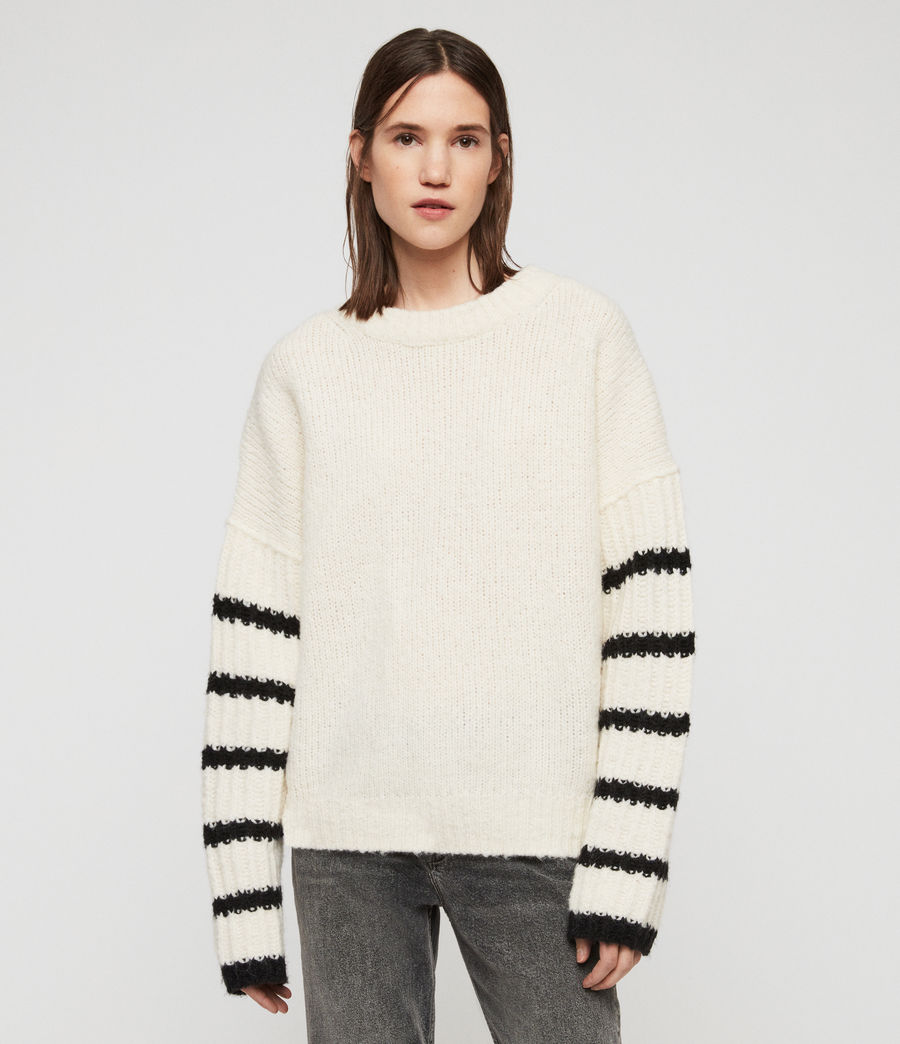 Women's Eldon Jumper (chalk_white_black) - Image 3