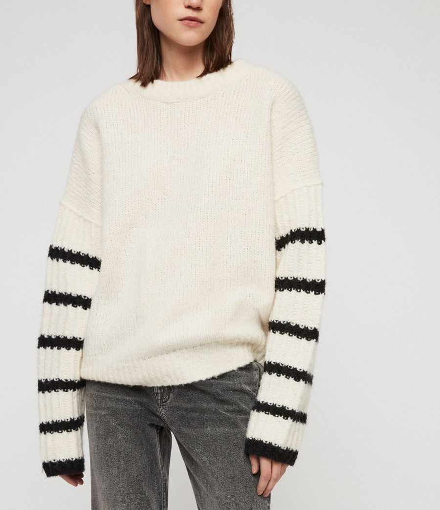 Women's Eldon Jumper (chalk_white_black) - Image 4