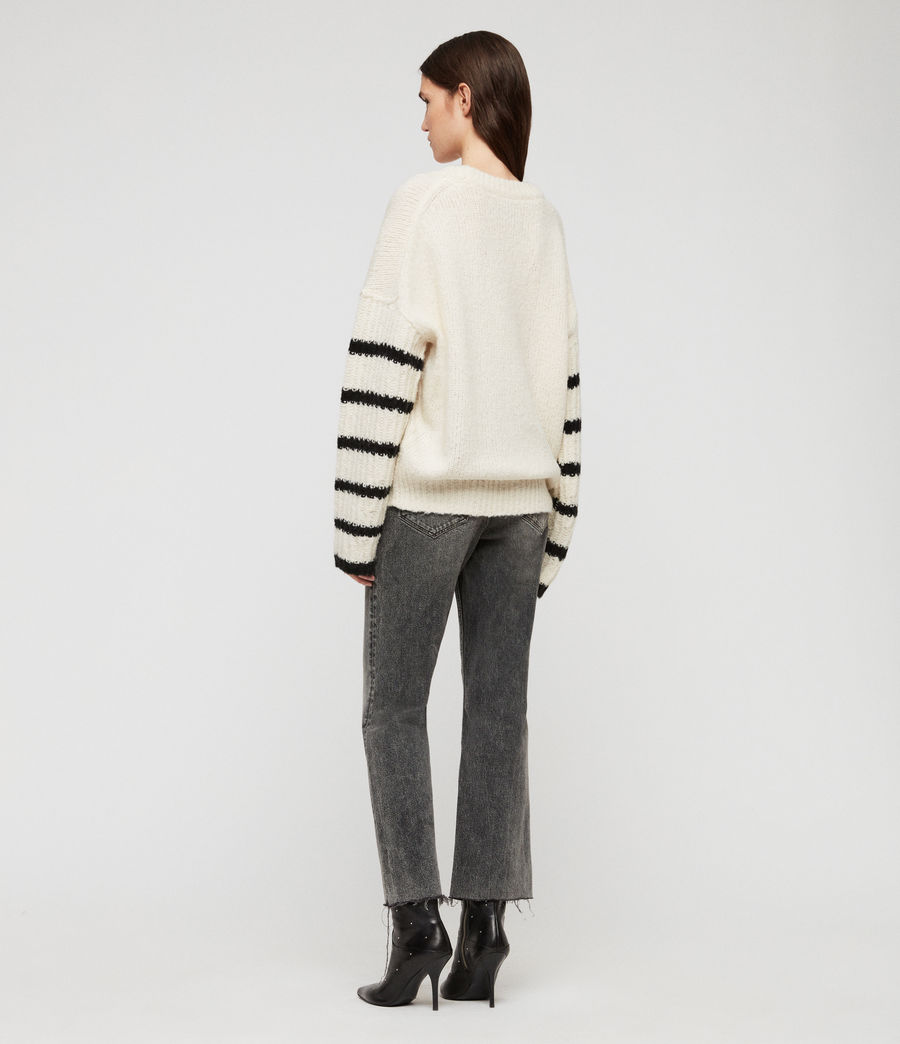 Women's Eldon Jumper (chalk_white_black) - Image 5