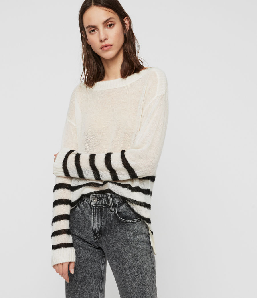 Womens Lune Sweater (chalk_white_black) - Image 3