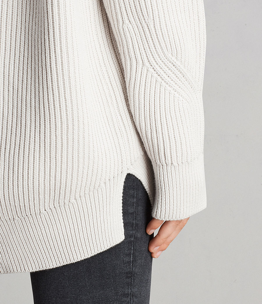 Womens Lizzie Crew Sweater (grain_white) - Image 2