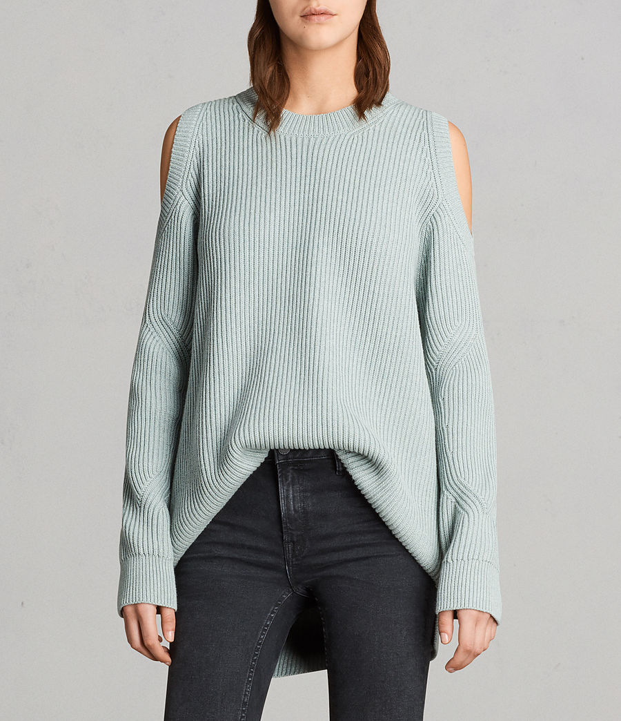 Womens Lizzie Crew Sweater (mint_green) - Image 1