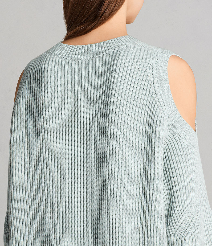 Womens Lizzie Crew Sweater (mint_green) - Image 2