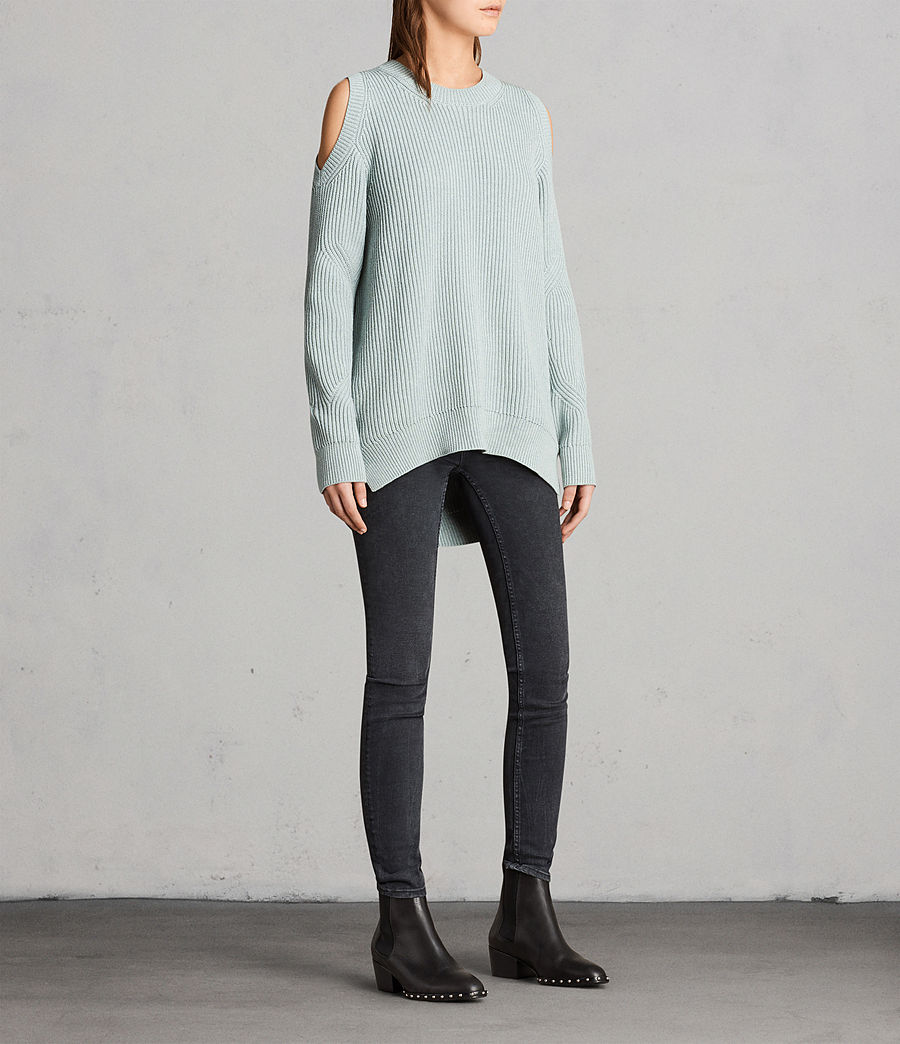 Womens Lizzie Crew Sweater (mint_green) - Image 3
