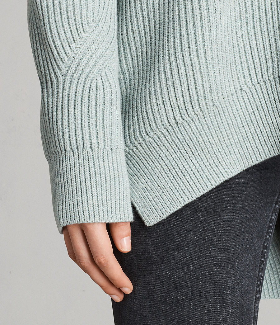 Womens Lizzie Crew Sweater (mint_green) - Image 4