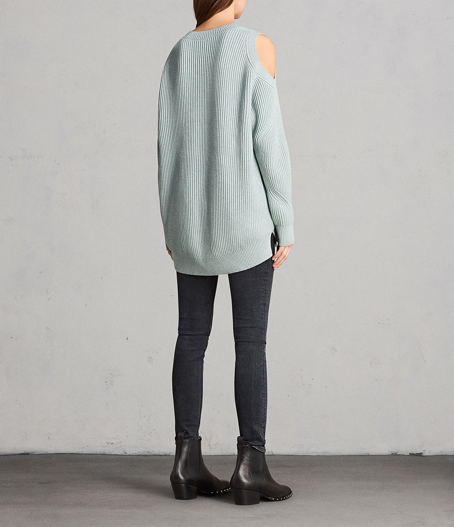 Womens Lizzie Crew Sweater (mint_green) - Image 5