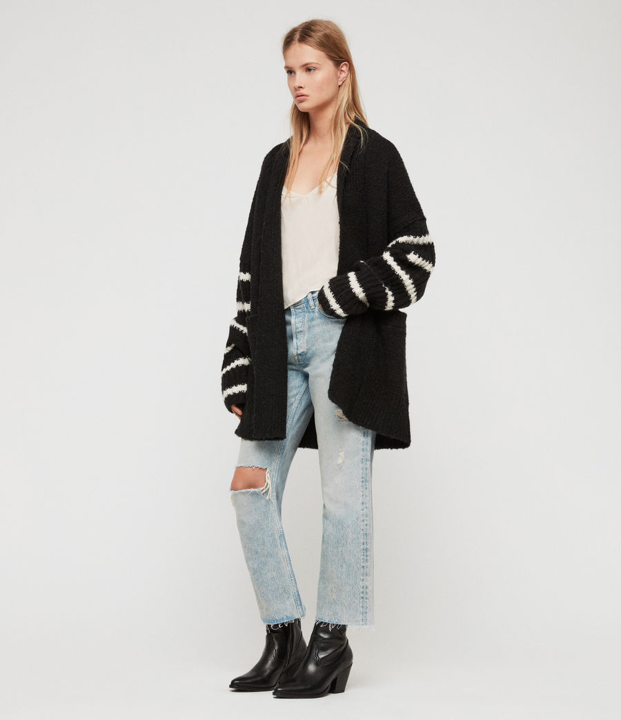 Women's Eldon Cardigan (black_chalk_white) - Image 1