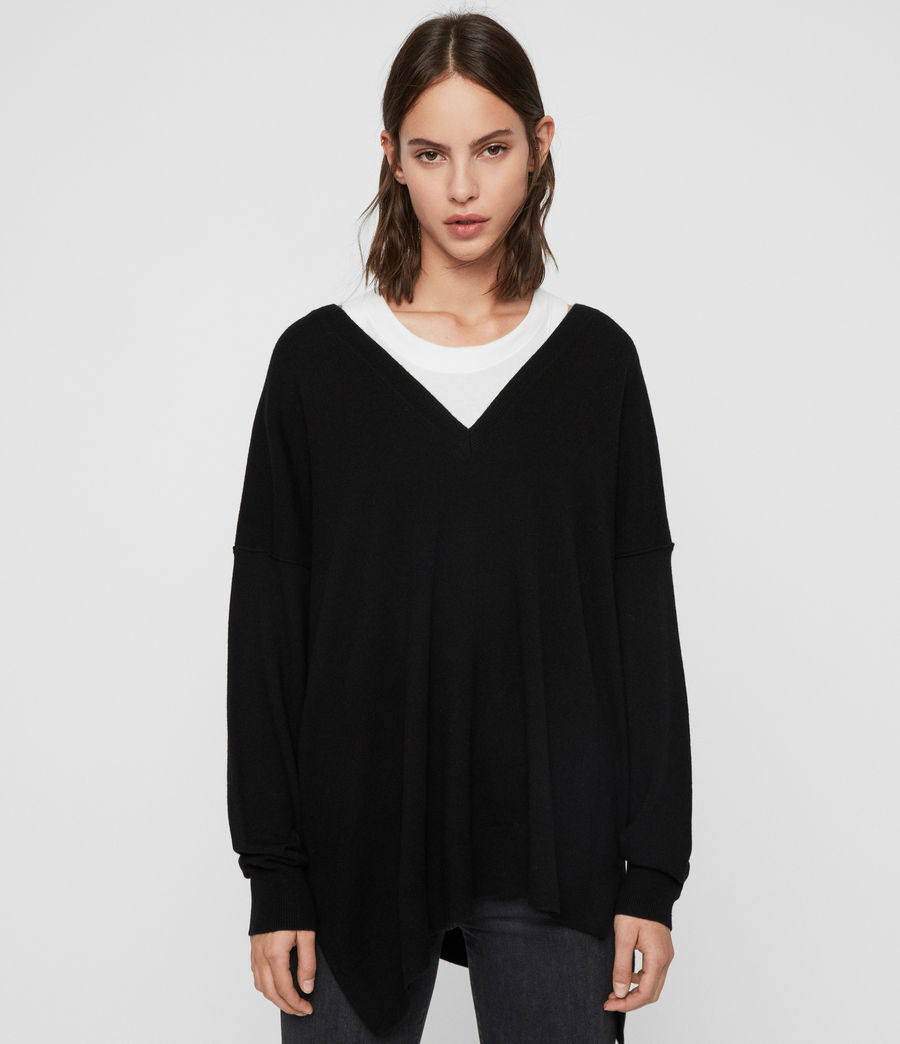 Womens Amber Sweater (black) - Image 1