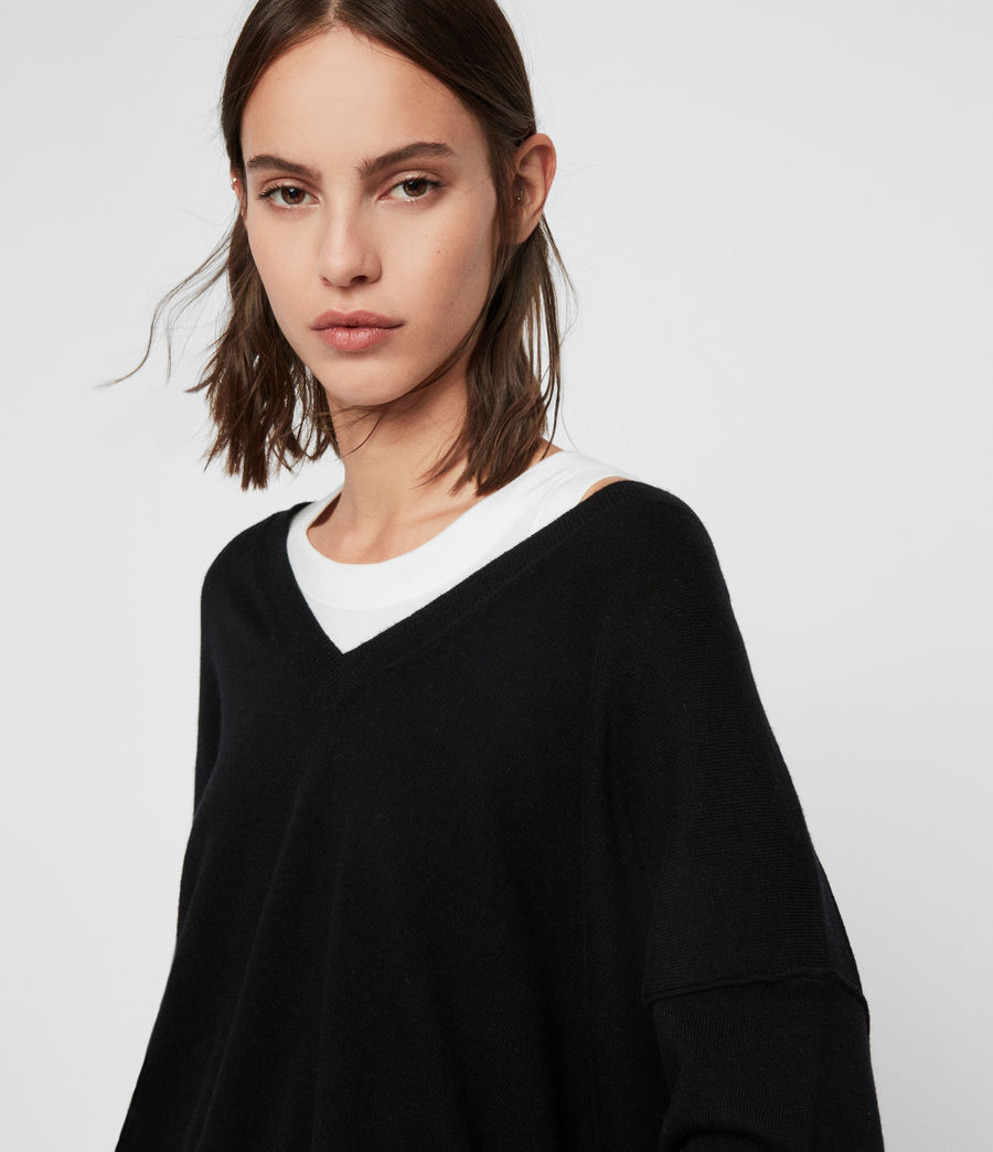 Womens Amber Sweater (black) - Image 2